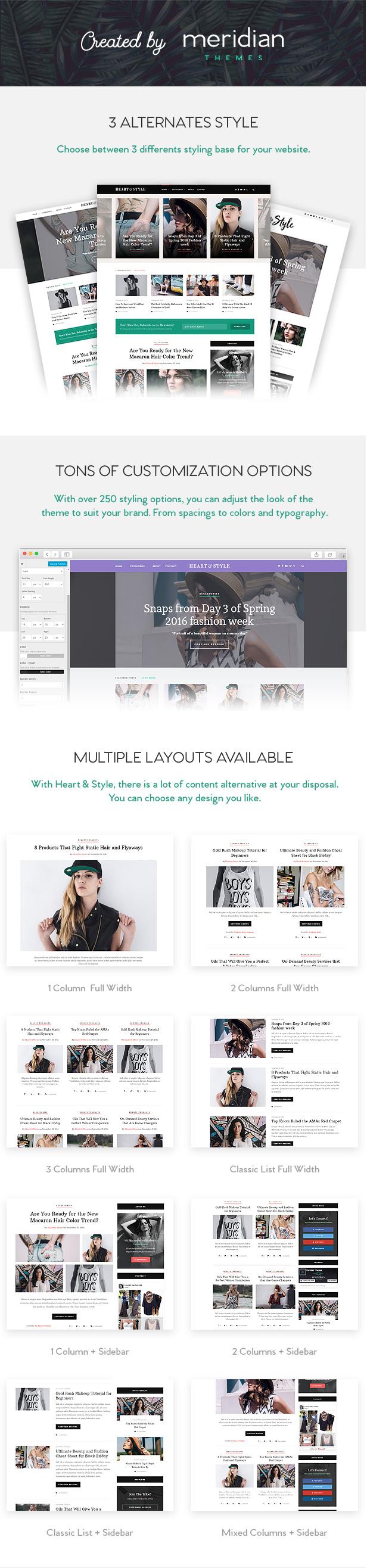 Heart & Style - Blog/Magazine WordPress Theme