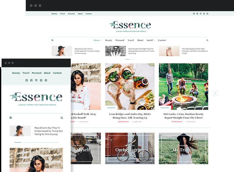The Essence - Premium WordPress Theme