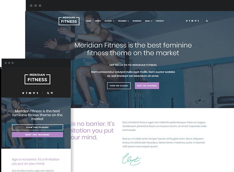Meridian Fitness - Premium WordPress Theme