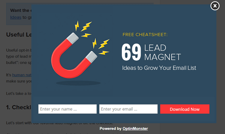lead magnet to boost conversions