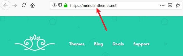 meridian themes domain name example