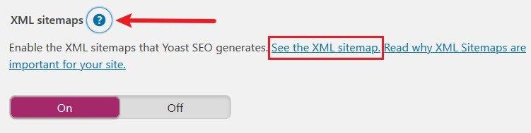 see xml sitemap in yoast