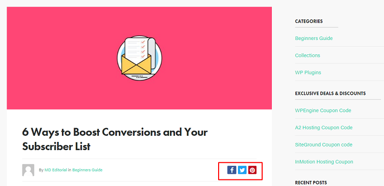 Lead generation with social buttons