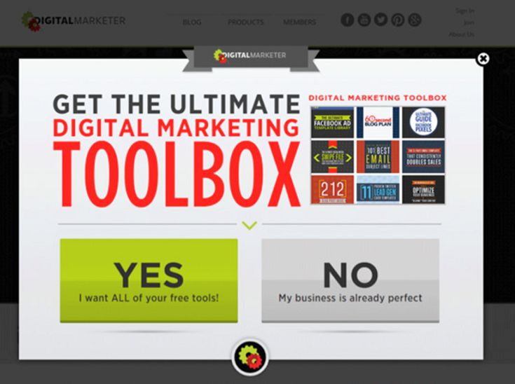 How to build an email list fast popup
