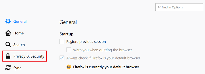 privacy and security in mozilla firefox