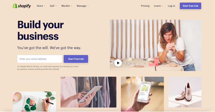 WooCommerce Vs Shopify: Shopify Cover Page