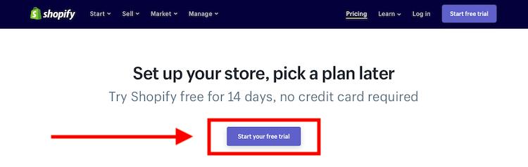 Shopify Free Trial