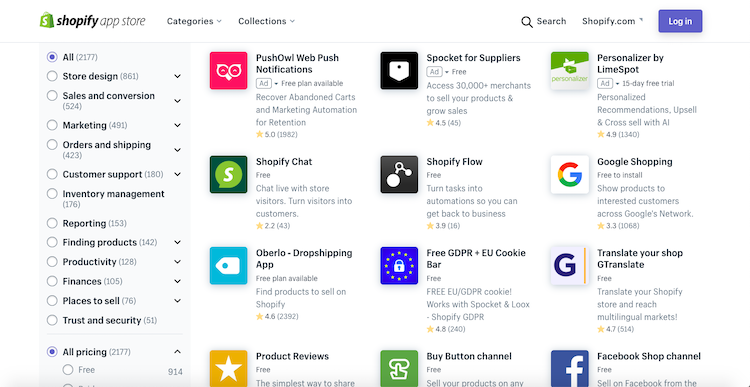 Shopify third-party integrations