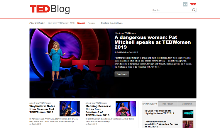 Big brands using WordPress: TED blog