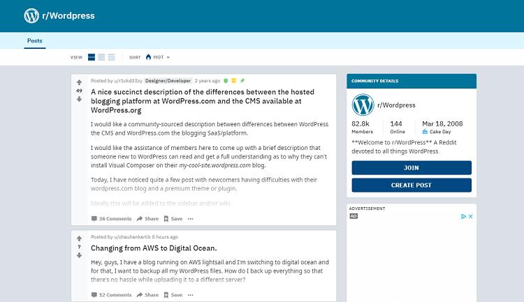 WordPress Subreddit
