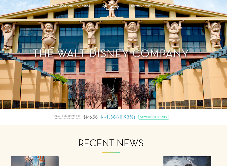 Big brands using WordPress: Disney