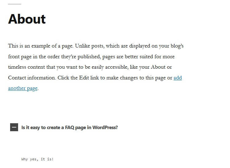 html5 responsive faq example