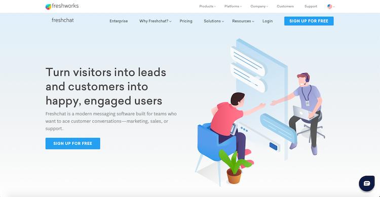 Freshchat: Best WordPress Chat Plugins