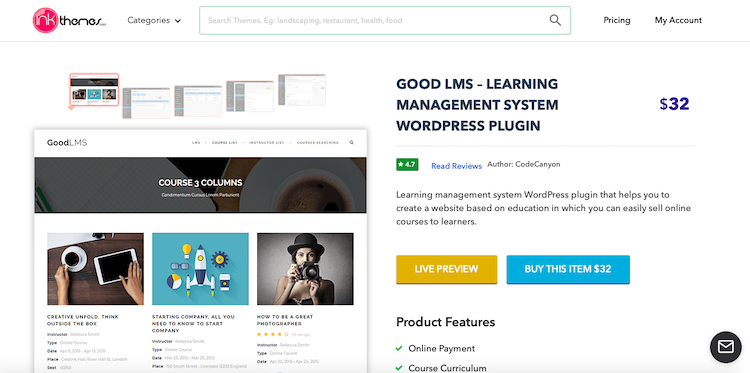 Good LMS WordPress LMS Plugin