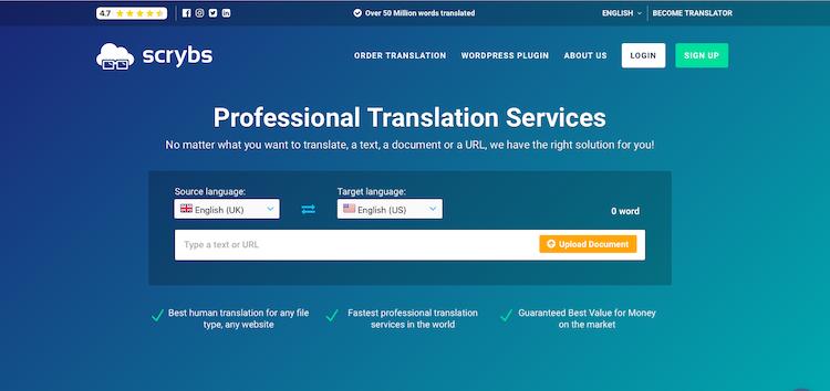 Scrybs WordPress Multilingual