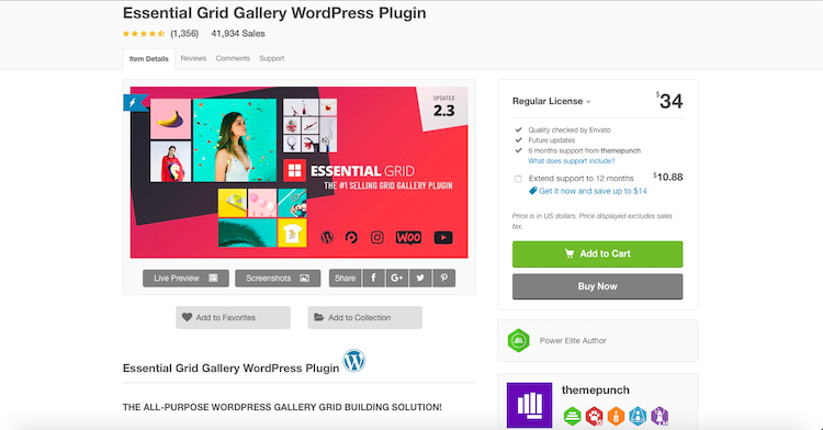 Essential Grid: Gallery Plugins For WordPress