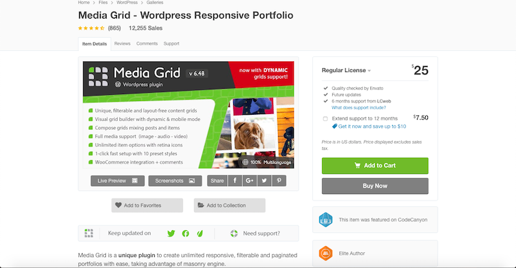 Media Grid: premium gallery plugin for WordPress
