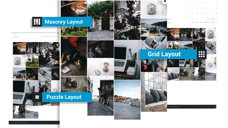 Portfolio & Gallery Builder layouts