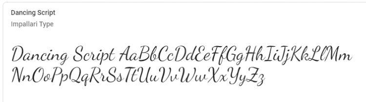 best-google-fonts-dancing-script
