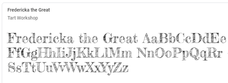 best-google-fonts-fredericka-the-great