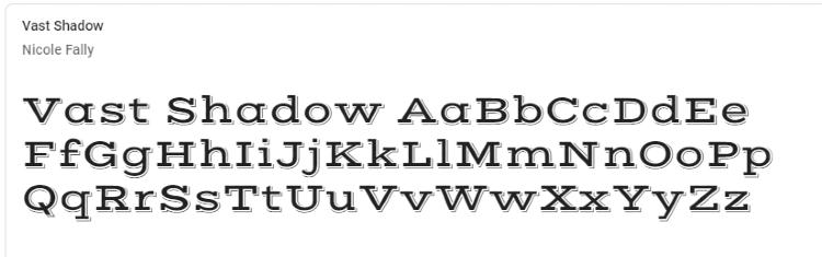 best-google-fonts-vast-shadow