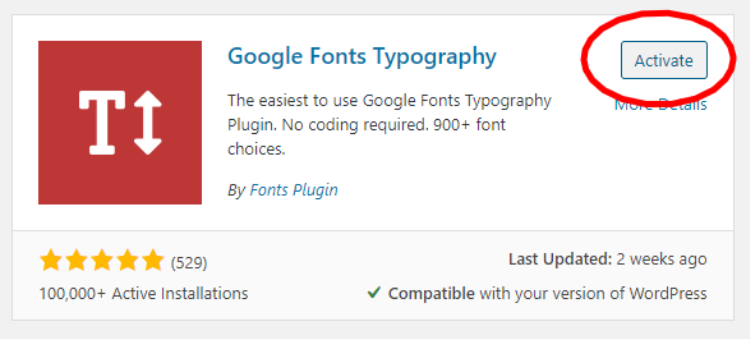 how-to-add-google-fonts-in-wordpress-activate