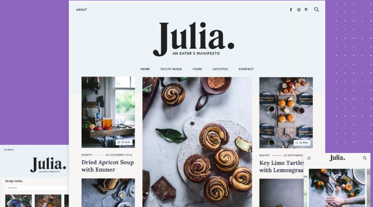 best-food-and-recipe-blog-themes-julia
