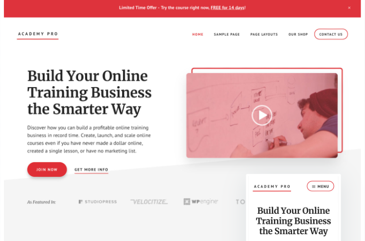 best-wordpress-learndash-themes-academy-pro