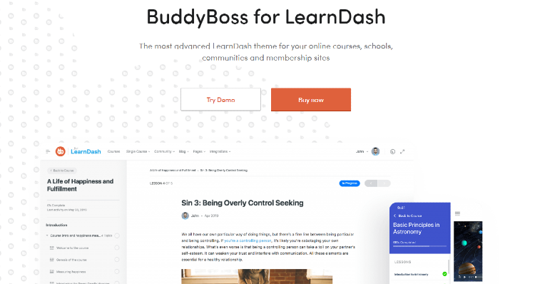 best-wordpress-learndash-themes-buddyboss
