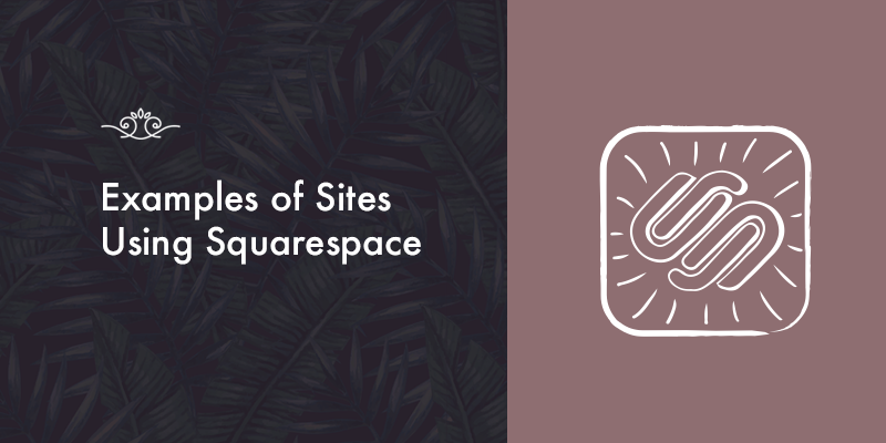 Examples of Websites using Squarespace!