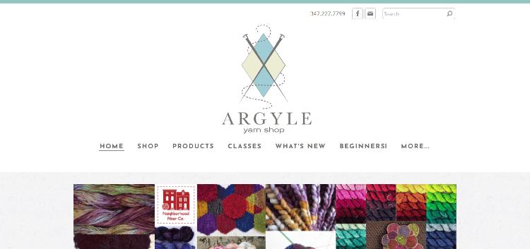 argyle yarn shop