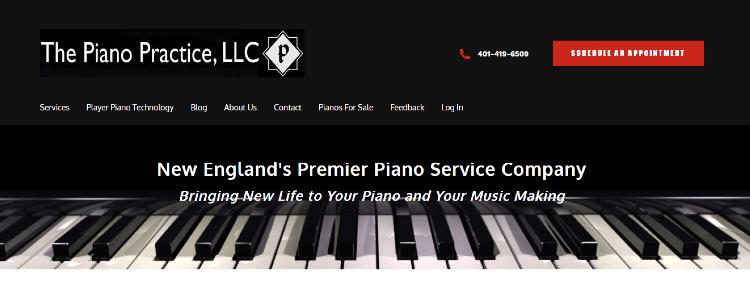 the piano practice