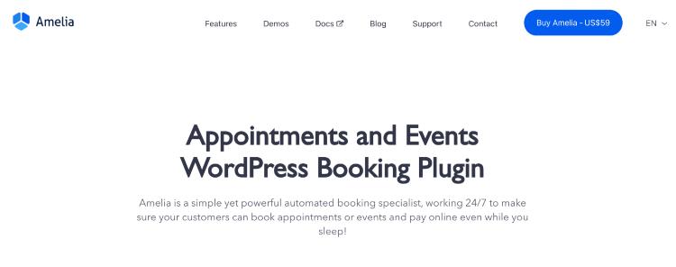 best wordpress booking plugins amelia