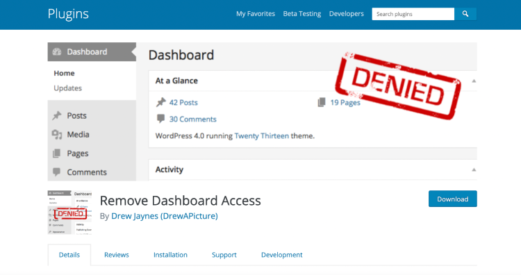 limit-access-to-your-wordpress-dashboard-remove-dashboard-access